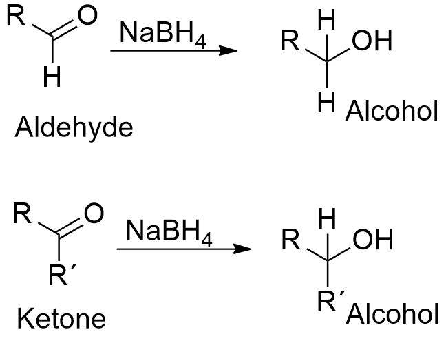 ketone reduction using sodium borohydride This experiment illustrates a mild way to carry out reduction of a carbonyl group to an alcohol agent is sodium borohydride, nabh 4 reduction of a ketone.